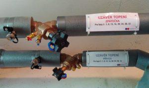Hydrocontrol VTR, ATR včetně izolace a štítků